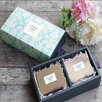100 unids / lote Papel Kraft Cajas de regalo hecho a mano Cajas de regalo de bricolaje caja de embalaje / estuche para el embalaje para el caramelo de la joyería del pastel de chocolate