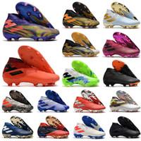 2021 MESS MESSI NEMEZIZIZA 19+ Laceless FG Precisión para desenfocar el paquete de fluctores 19 + x Zapatos de fútbol Fútbol Alto tobillo botas Tamaño Tamaño US6.5-11