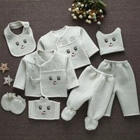 Мамы эмоций (8шт / комплект) Младенческая одежда 0-3 м новорожденных костюмы малыша одежда для одежды детей мальчики девочек костюм термический органический хлопок Y1113