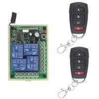 DC 12V 24V 4 Kanal 4CH RF Wireless Fernbedienung Switch System Empfänger + Sender, 315 433 MHz T200605