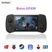 Kinhank GP430 Retro Oyun Konsolu 4.3 inç IPS Ekran Ahududu Pi El Video Oyunu Oynatıcı Çift Rocker Destek Mini HMDI OUT Y1123