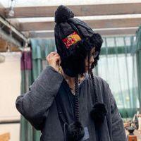 Beanie / Capas de cráneo Johnature Winter Lolita Piel gorras para mujeres 2021 Casual remiendo estilo chino tejer todos los partidos vintage hembra