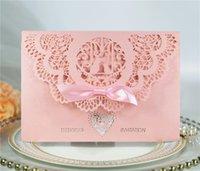 Convites do casamento com o casamento oco do envelope Engate convites do partido do aniversário do aniversário personalizado cartão do convite da festa de anos