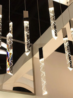 현대 로프트 LED 샹들리에 K9 크리스탈 크롬 듀플렉스 계단 샹들리에 거실 호텔 천장 매달려 가벼운 럭셔리 펜 던 트 램프