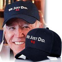 Black Joe BiDen Мы только что сделали 46 Print Bainball Ball Hat Unisex Caps Snapbacks Президент BiDen Jogging Sport Hat Summer Weador Headware E112405