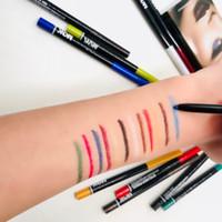 Eyeliner Pencil With 12 Colors Long lasting Highlighter Eyeliner Pen Waterproof Glitter Eyeshadow Pen Eye Cosmetic Lip Liner