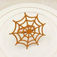 Guardanapos da Web de aranha de metal fivelas festivais fantasma festival de halloween guardanapo anéis idiota preto opp pacote com várias cores 3 8hwa j1