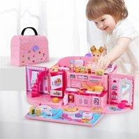 Qwz novas meninas DIY Bolsa Bolsa Mobiliário Miniatura Acessórios Bonecas Bonecas Aniversário Presente Casa Brinquedos Para Crianças 201217