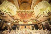 الراقي الحرير الاصطناعي الزهور ويستيريا لDIY الزفاف القوس ساحة القش محاكاة جدار منزل شنقا ديكور