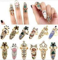 Factorytxzkcute Dragonfly Diamante Retro Regina Shinning Design Design Squisito Strass Plum Snake Ring Finger Nail anelli, f