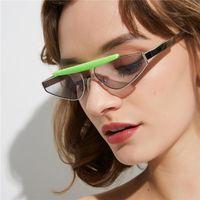 Sonnenbrille HBK Italienisches kleines Dreieck Frauen Vintage Gläser Mode Größe Rot Gelb Klarlas Sun 2021 UV400