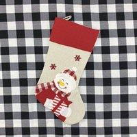Ornamenti natalizi calze calze con Santa Claus Christmas Bella borsa per bambini Candy Regalo Bag Camino Xmas Tree Decorazione DHF3492
