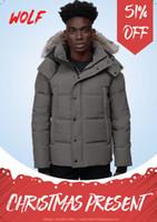 Лучшие мужчины зимняя куртка волк фу путешествия Parka down куртка длинные парку пуховые пальто тепло теплого пальто jaqueata
