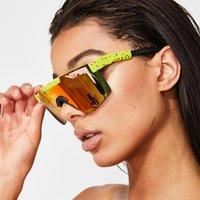 Nova marca rosa vermelha óculos de sol enorme polarizada espelhada lente vermelha tr90 quadro uv400 proteção homens esporte pit víper