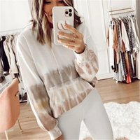 Ebaihui 2021 Autumn White Brown Sleeping Sweatshirt Round Neck Long Sleeve Top for Woman Women's Breathable Warm Soft Home Clothes
