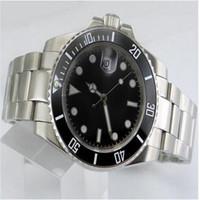 럭셔리 시계 숙녀 기계 아시아 2813 무브먼트 스틸 팔찌 35mm 세라믹 베젤 자동 Womens Wristwatch