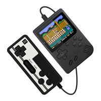 ダブルハンドヘルドビデオゲームコンソール内蔵400クラシックゲーム3.0インチスクリーンポータブル30セット/ロット