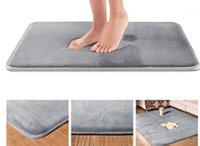 Bad Matte Badezimmer Teppich Teppich Korallen Fleece Memory Foam Badezimmermatte Gute Wasseraufnahme Küche Tür Bodenbad # C1