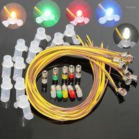 Decorazioni natalizie E503T 10Set Colorful LED a vite Bulb e Stand E5 E5.5 16V-19V Spur Oo / Ho / N Gauge1