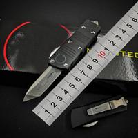 Mikro Mini Savaş UT85 UT121 Otomatik Teknik Bıçak Hellhound Tanto D2 Blade Cep Survival Oto Bıçak BM 3300 3400 4600 Ücretsiz Kargo