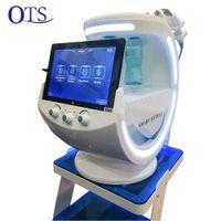7 en 1 Máquina de Hydrafacials Ice Blue Dermabrasion inteligente con análisis de la piel Diagnóstico RF + Ultrasonido + Sistema de refrigeración ION +