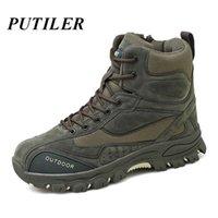 Erkekler Askeri Savaş Ayak Bileği Çizmeler Hakiki Deri Rahat Ayakkabılar Açık Erkekler Sneakers Kış Tacticos ABD Swat Ordusu Boot Erkekler Yeşil 201215