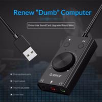 Placa de som USB externa para jogo de computador PS4 Stereo Mic Screetset Headset Audio Jack 3.5mm adaptador de cabo mudo ajuste de volume