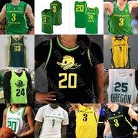 Personalizado Oregon Patos Basquetebol Jersey NCAA College Payton Pritchard Anthony Mathis Chris Duarte Juiston Okoro Patterson Richardson Bol