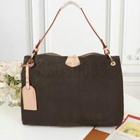 Graciosa MM PM Hobo em bolsas de lona revestidas clássicas extra-espaçosos de couro leve supple apartamento saco de ombro