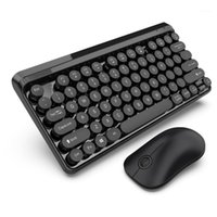 77 tasti 2.4G USB tastiera wireless tastiera combo combs impermeabile Ajustability multimedia + 1000DPI Intelligent Wireless Office Mouse1