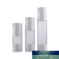 10 unids Botellas de bomba sin aire Botellas de contenedor vacío Botellas de plástico mate Clear Cuerpo Loción Loción Cosmetic Packaging 15ml 30ml 50ml
