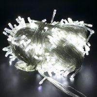 300-LED-Saiten Weiße Lichter Romantische Weihnachtshochzeit Outdoor Decoration Vorhang String Licht 110V Hohe Helligkeit LED