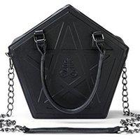 Jierotyx Pentagram панк темнота готическая звезда сумочка женская девушка черный PU мягкая кожаная сумка с цепью высокое качество C1223