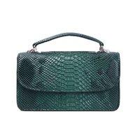 Customized Fashion Style PU Leather Shoulder Snake Pattern Chain Purse Portable Wallet Handbag Python Bag Q1117