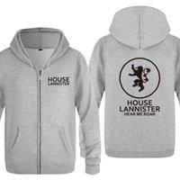 Écoutez-moi Roar - House Lannister Sweats Hoodies Hommes 2020 Molfe Fleece Cardigans Cardigans à capuche Capuche Sweatshirts