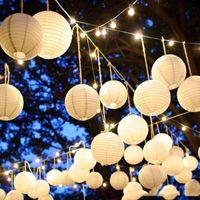 1 pz 6 pollici rotondo carta lanterna di carta da sposa giardino decorazioni natalizie China Ball Lampion 15 cm forniture 25 colori Brithday Party Dector