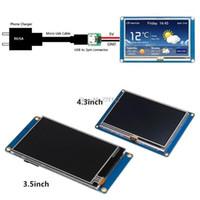 """عرض لمدة 3.5 """"Nextion HMI ذكي الذكية USART UART TACK TFT LCD وحدة لوحة التوت بي 3 دروبشيب"""