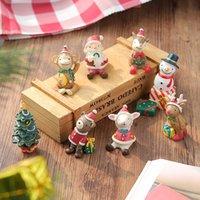 크리스마스 장식 가족 작은 동물 수지 장식품 크리 에이 티브 홈 크리스마스 만화 미니 선물 10 개 스타일 w-00448