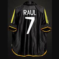 Retro 1998/01 Gerçek Madrid Futbol Formaları Raul Roberto Carlos Guti Mijatovic Redondo Anelka Figo Vintage Kitleri Klasik Gömlek