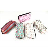 Neopren Kozmetik Çantası Su Geçirmez Makyaj Çantaları Çiçek Beyzbol Ekose Çanta Kılıf Seyahat Tuvalet Taşınabilir Saklama Çantası Sikke Çanta DHL F121001
