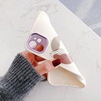iphone12pro 11 프로 최대 7 8 플러스 x xr에 대한 패션 라인 그리기 꽃 리프 전화 케이스