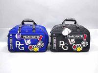 Marka Yeni İnci Kapıları PG Golf Giyim Çanta Siyah / Mavi İnci Kapıları Ayakkabı Çanta PG Golf Çanta EMS Nakliye