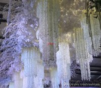 1M Long Artificial Silk Flowers Wisteria Vine Rattan Fake Flower Table Centerpieces Wedding Decoration Garden Home Wall