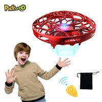Pickwoo P10 manos libres Mini Drone Helicopter Mini UFO Drone con luz LED Easy Outdoor Ball Outdoor Ball Hands Operated Drone for Kid 201125