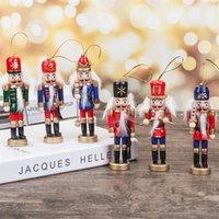 1 stücke 12cm Nussknacker Mini Hölzerne Soldaten Band Puppe Weihnachtsbaum Ornament Neues Jahr Weihnachtsdekoration Für Zuhause Senden zufällig Y201020