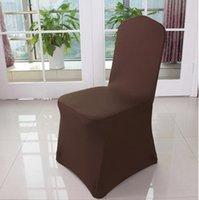Chaise de fête de mariage White Spandex universelle Couvertures de chaise Lycra blanche Spandex Lycra pour la fête de mariage EEF4790
