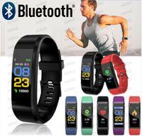 ID115 زائد سوار الذكية اللياقة البدنية المقتفي ID115HR مشاهدة معدل ضربات القلب watchband معصمه الذكية لالروبوت الهواتف المحمولة مع مربع fitbit