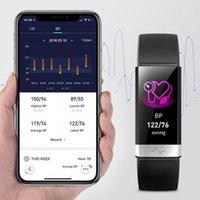 جديد ضغط الدم المعصم الفرقة القلب رصد معدل سوار ECG PPG HRV الذكية ووتش مع إلكتريكبارديج عرض المعقم 1