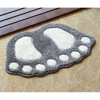 Foot Print Bath Mats, Non- slip Bathroom Carpet, Mat Toilet Tap...