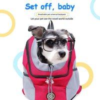 Welpenkätzchen tragen tasche doppelschulter tragbare reiserucksack outdoor haustier träger tasche pet hund vorne tasche mesh rucksack kopf